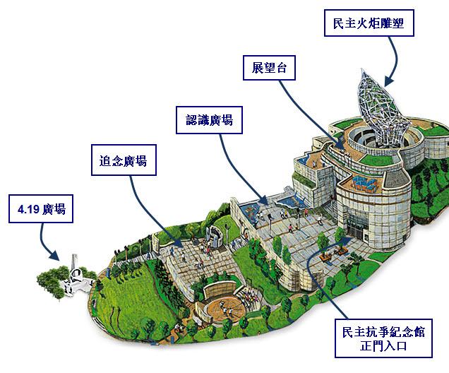 釜山民主公園立體地圖