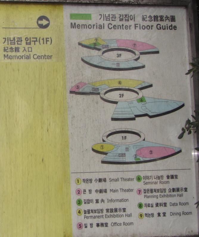 釜山民主抗爭紀念館平面圖