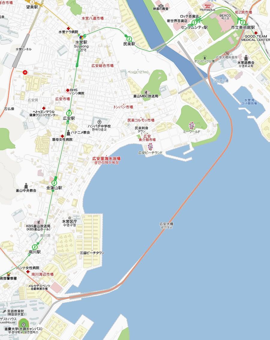 釜山廣安大橋地圖