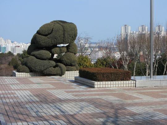 釜山文化會館平台優美環境