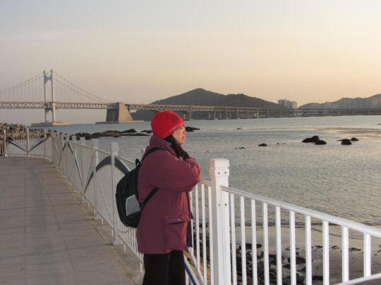 民樂洞海濱眺望釜山廣安大橋