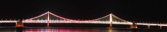 釜山廣安大橋晚上燈飾