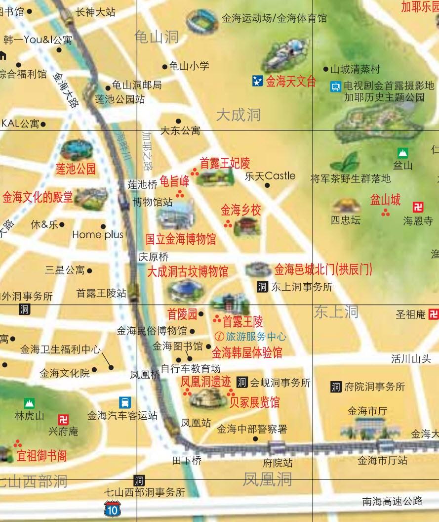 韓國金海市旅遊地圖