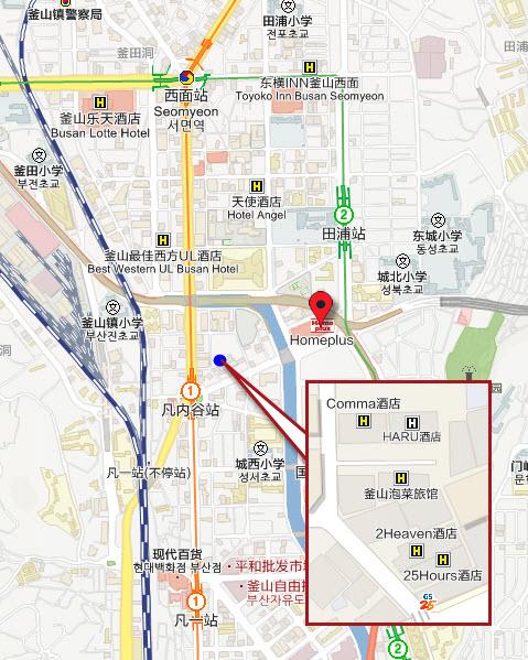 釜山凡內谷天堂2飯店