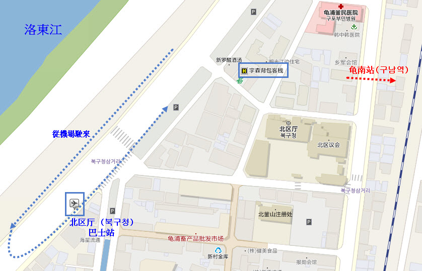 busan-yusun-guesthouse-location-map