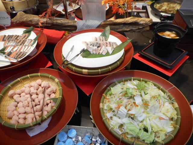 下呂彩朝樂別館餐廳自助晚餐