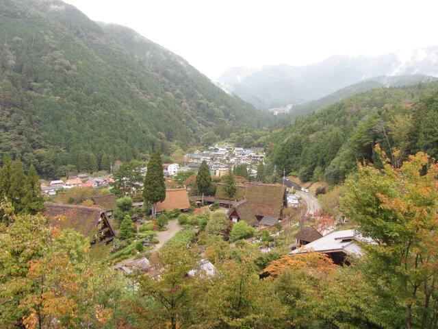 下呂溫泉合掌村、下呂阿多野谷秋天景色