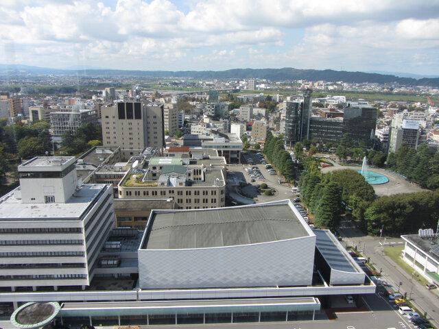 富山市役所展望塔 眺望富山市
