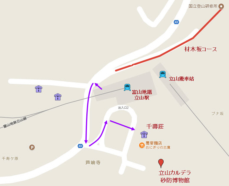 富山 立山駅 千壽莊民宿地圖