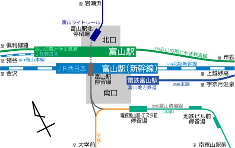富山火車站平面圖