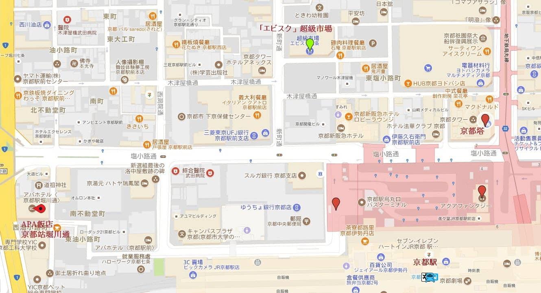 京都「エビスク」超級市場地圖