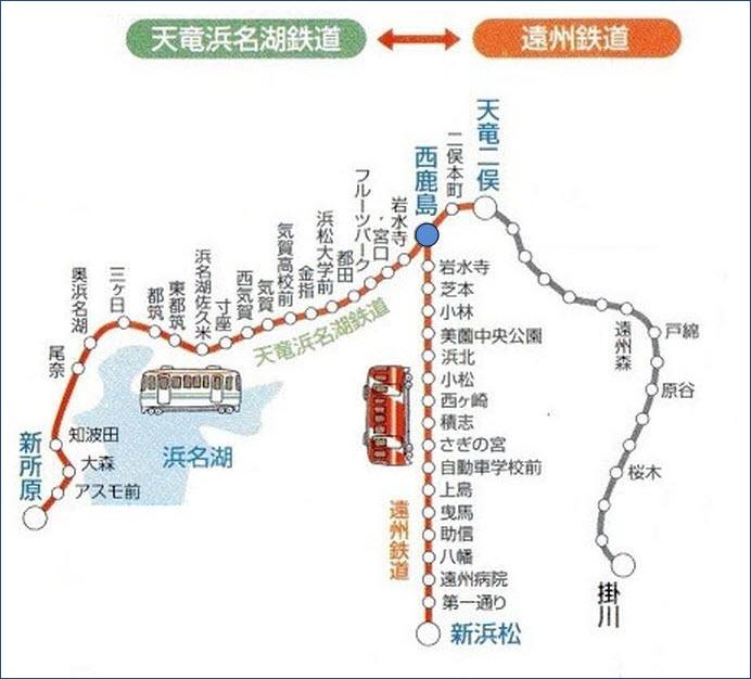 遠鐵電車、天濱線鐵道路線圖