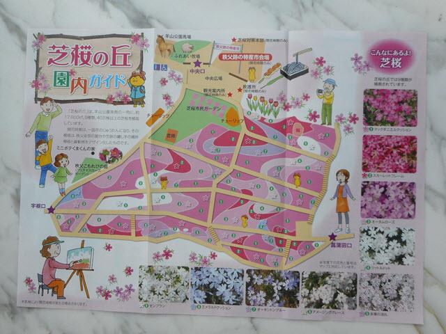 羊山公園芝櫻之丘 地圖