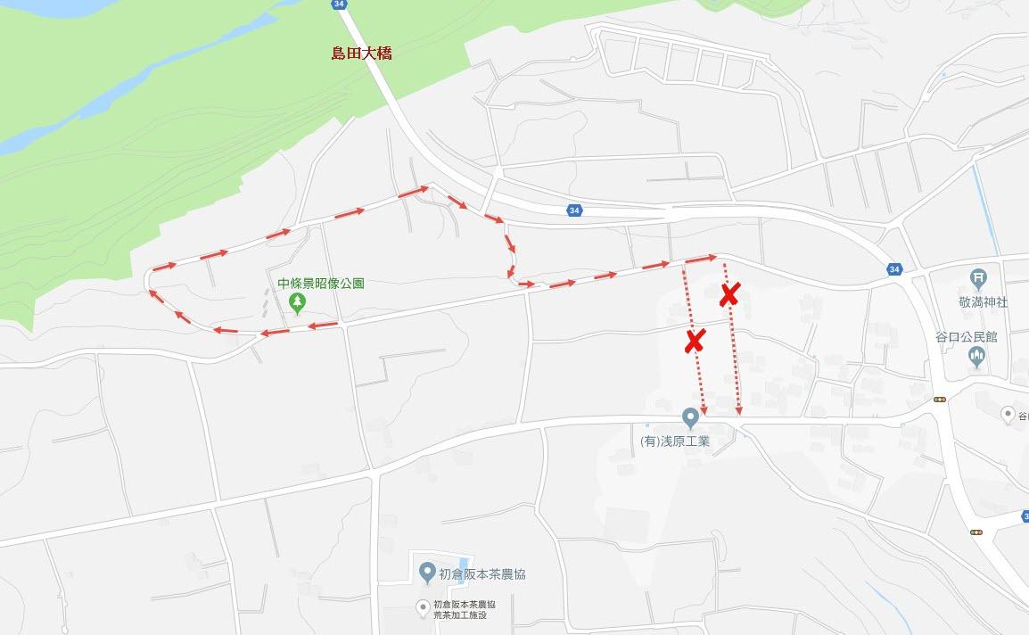 牧之原大茶園 步行路線地圖