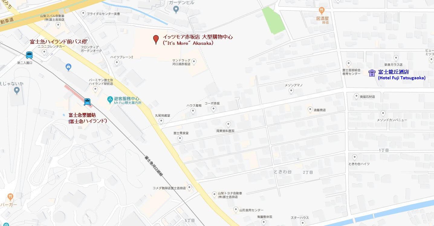 富士龍丘酒店地圖