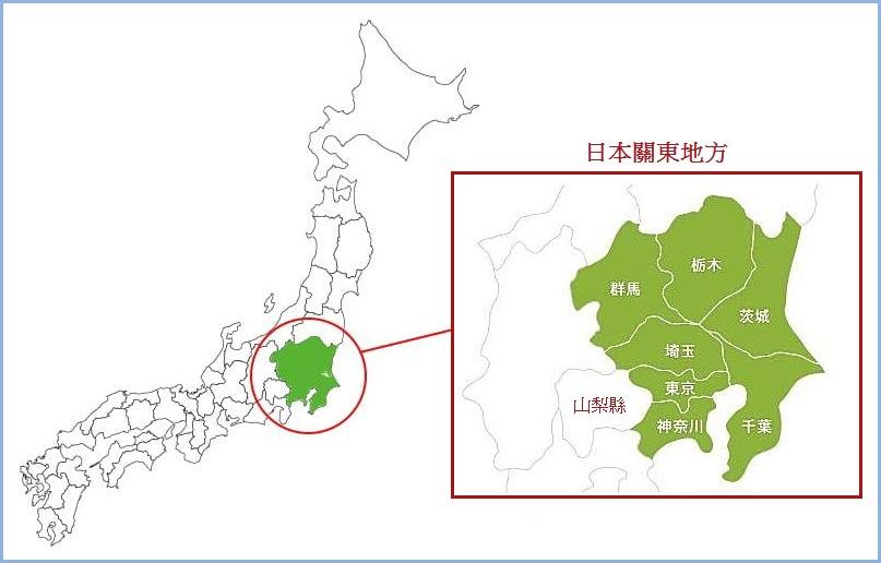 日本關東地方地圖