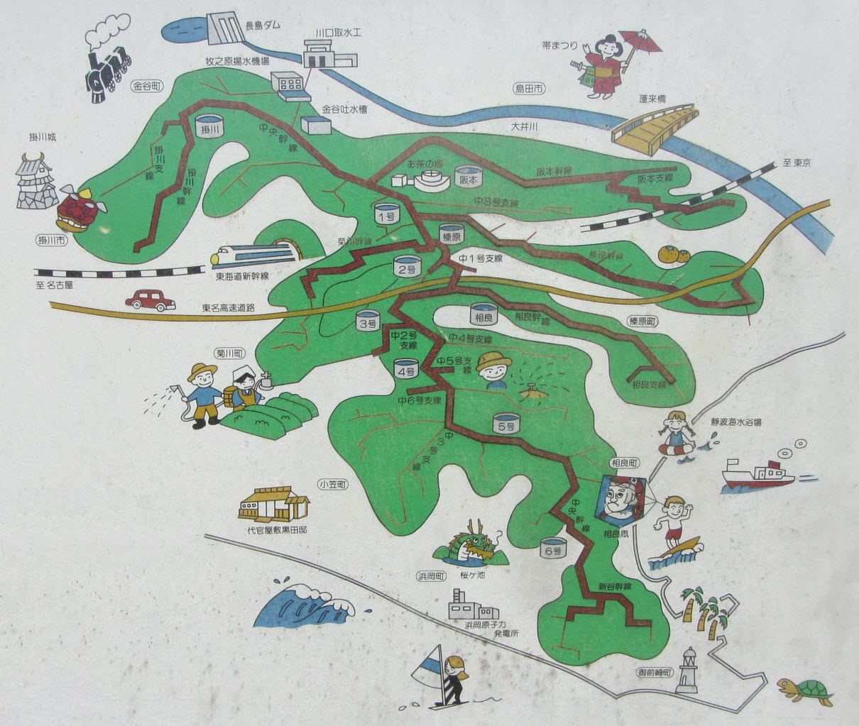 牧之原大茶園地圖