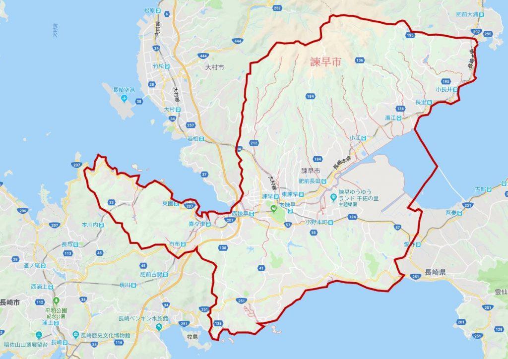 諫早市地圖