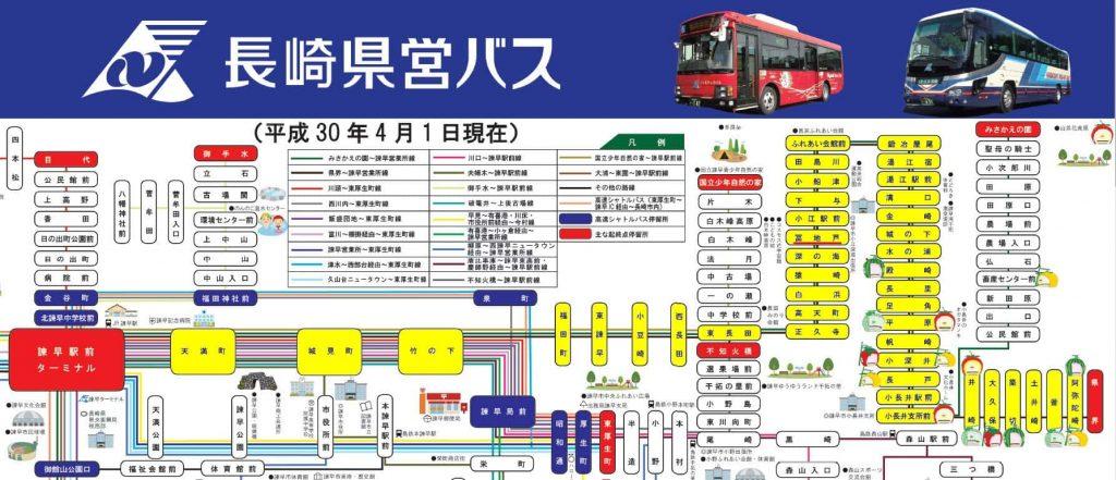 長崎県営巴士 諫早市巴士路線圖