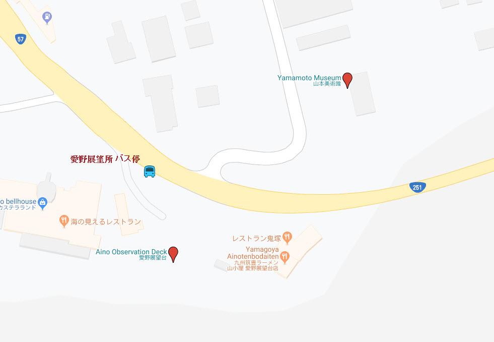 雲仙市 愛野展望台 地圖