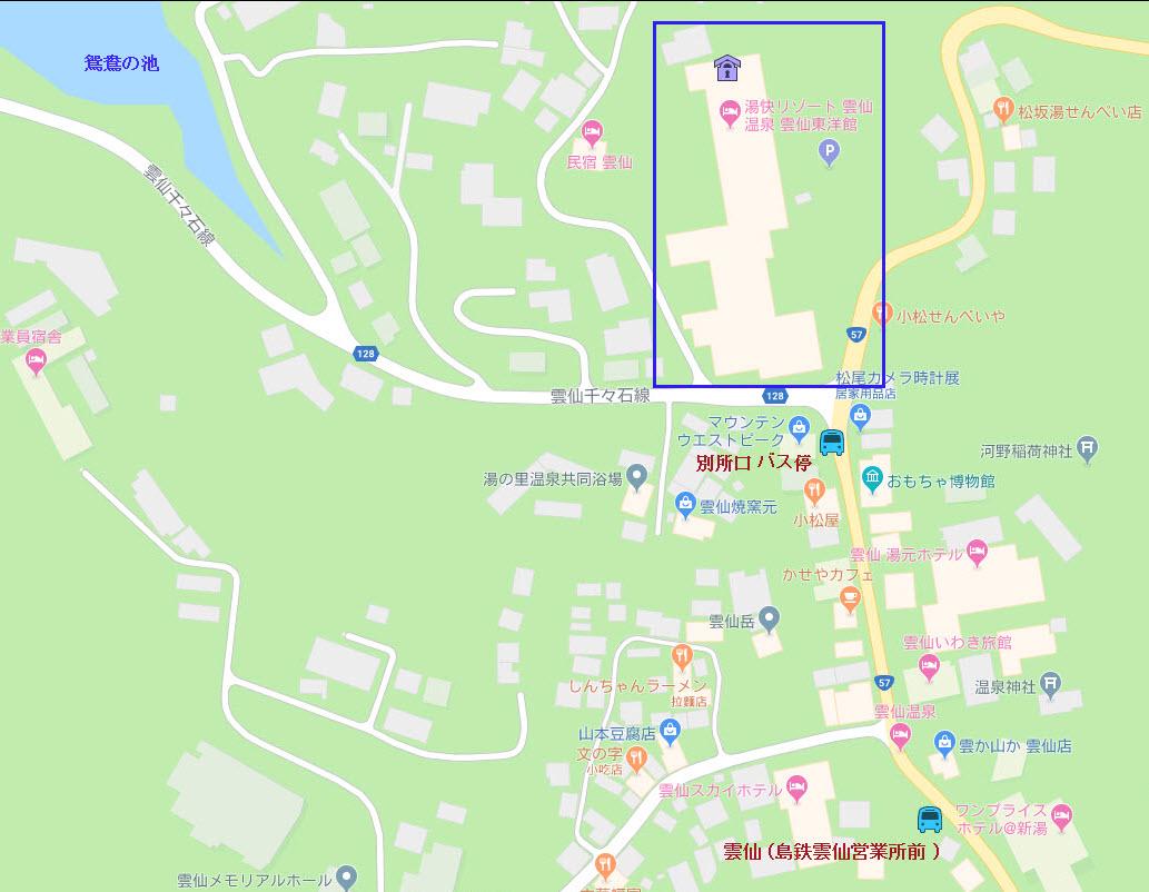 湯快リゾート 雲仙温泉 雲仙東洋館 地圖