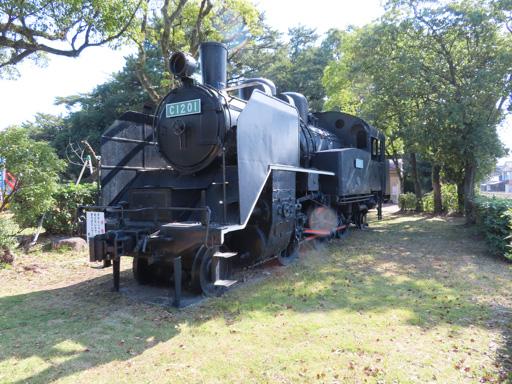 島原市 霊丘公園 C-12型蒸汽火車頭