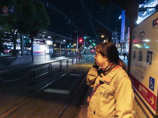 辛島町駅乘電車往熊本站前