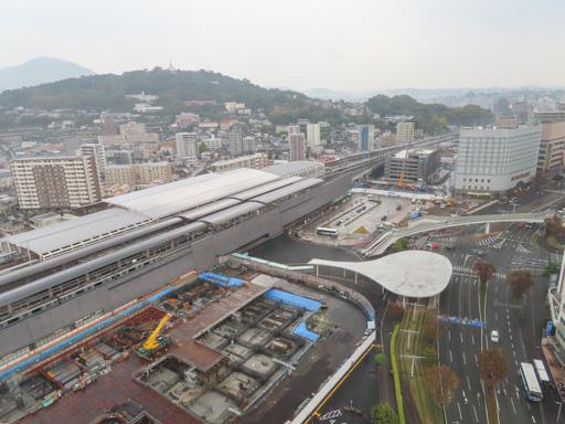 熊本東橫 INN 熊本站前高層出不窮房間 眺望熊本市