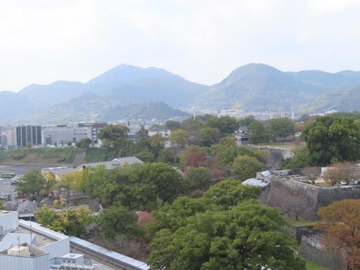 熊本市役所 14F展望台 眺望熊本城