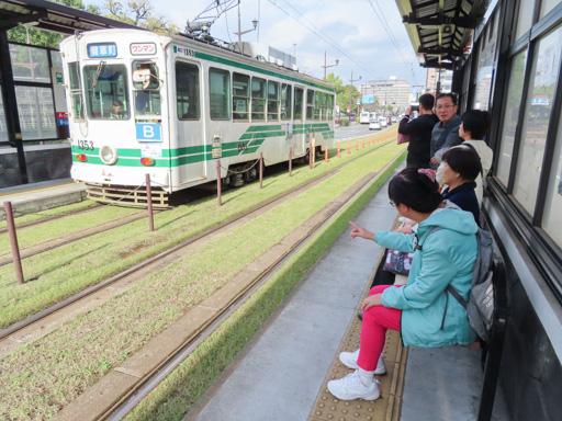 熊本路面電車 熊本城、市役所前駅