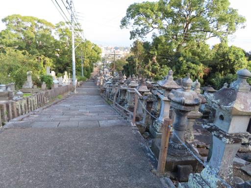 熊本市‧本妙寺‧石燈籠群石階