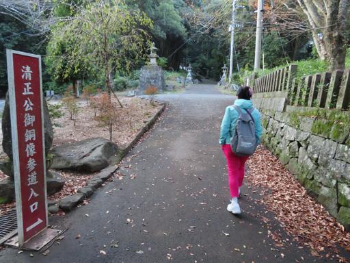 熊本市‧本妙寺‧清正公御銅像参道入口