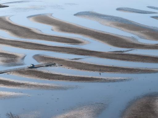 御輿来海岸展望所、月牙型砂紋奇景