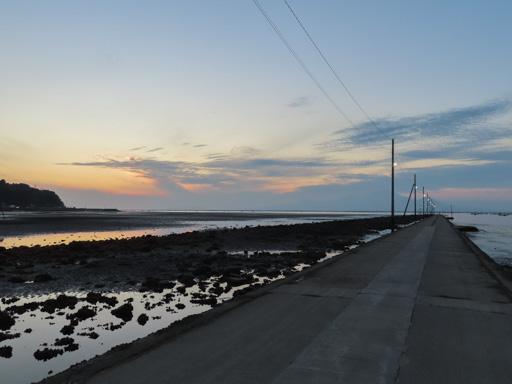 長部田海床路漂亮日落景色
