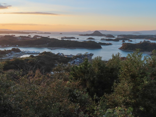 高舞登山展望所 天草海岸黃昏景色