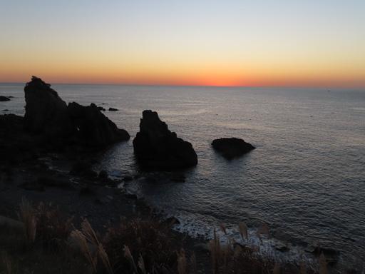 天草下田溫泉海岸‧水平線日落