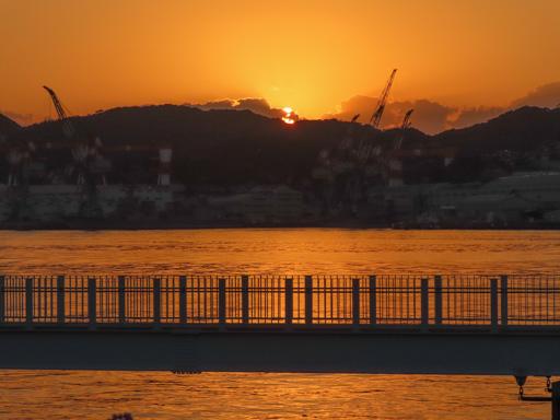 長崎港日落