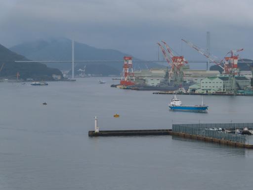 長崎縣廳8F免費展望台眺望長崎港、女神大橋