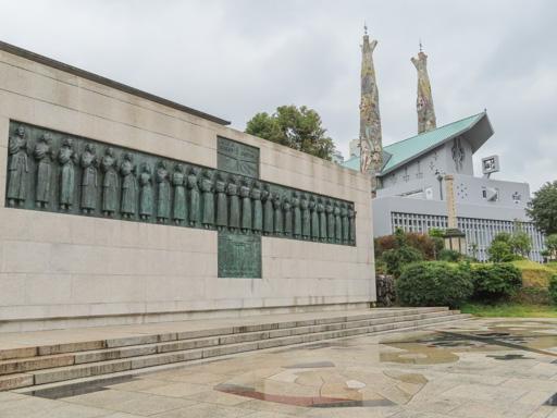 長崎西坂公園‧日本二十六聖人殉教紀念碑
