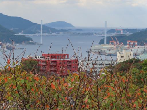 長崎立山公園展望台 眺望長崎港 女神大橋