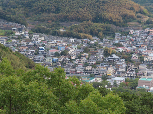 長崎立山公園展望台眺望長崎市