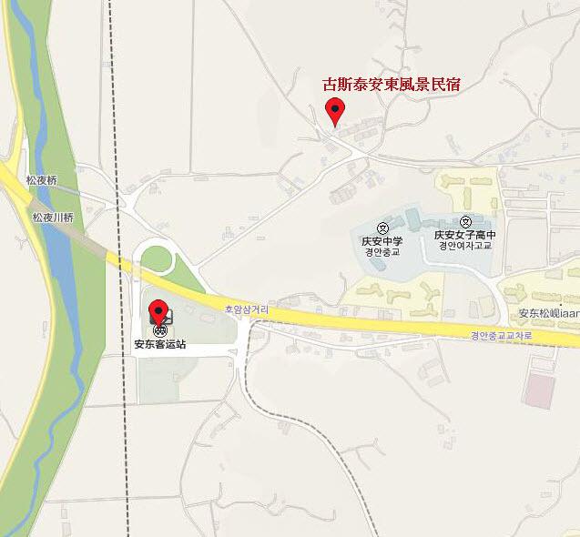 韓國安東住宿 - 古斯泰安東風景民宿(GoodStay Andong Poong-gyung Guesthouse 안동풍경) 地圖