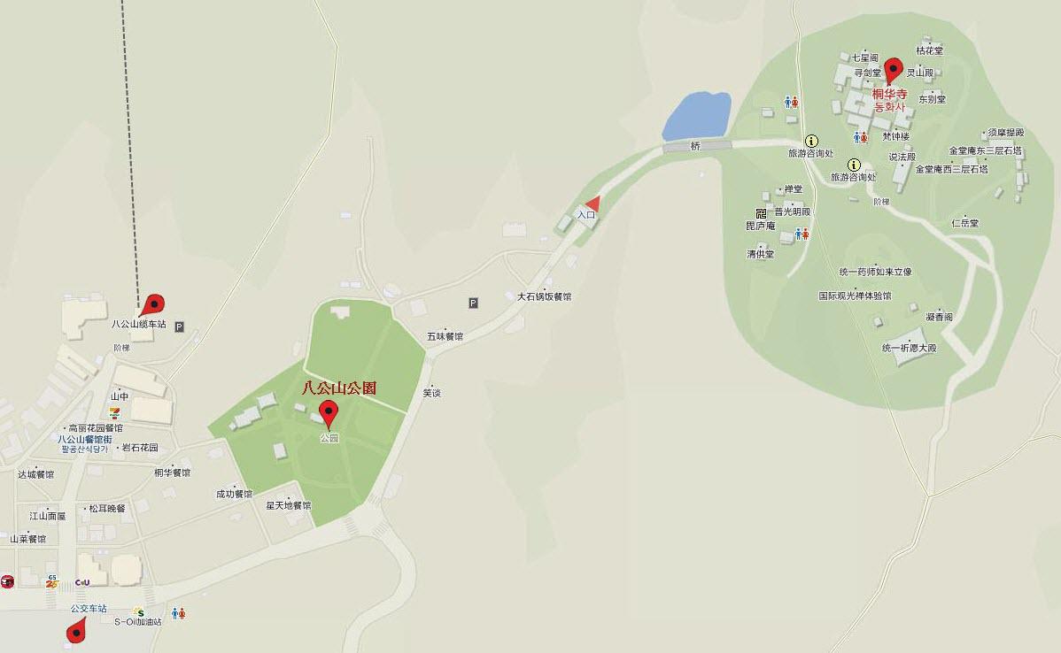 八公山桐華寺地圖