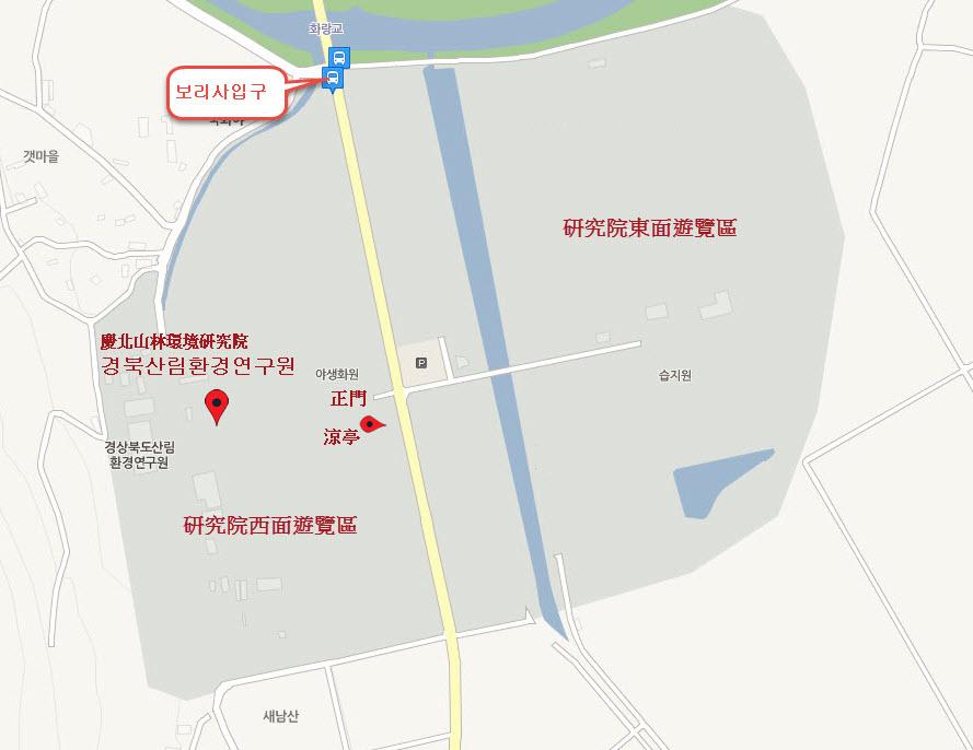 慶州慶北山林環境研究院遊覽地圖