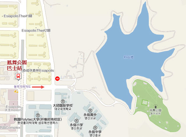 大邱鳳舞公園地圖