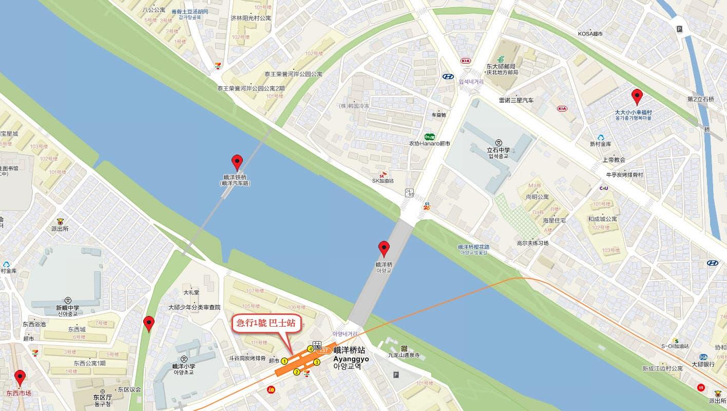 大邱峨洋鐵橋、大大小小幸福村地圖