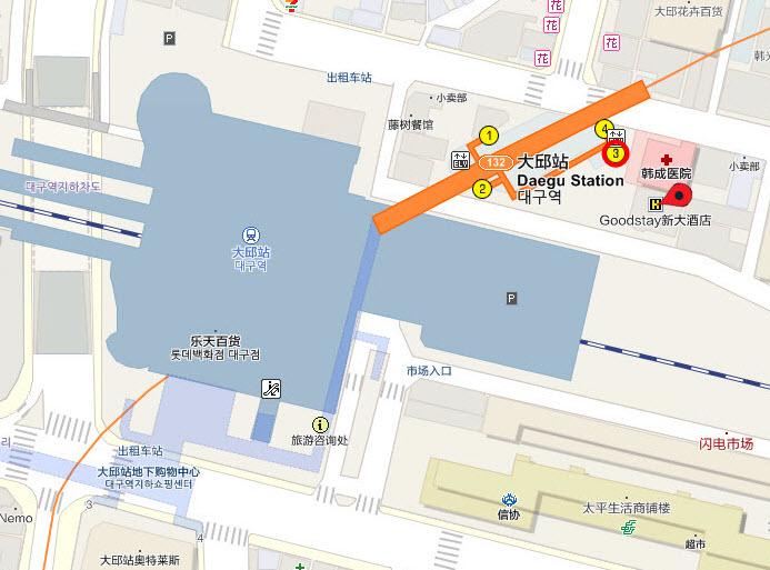 大邱新格蘭德酒店地圖