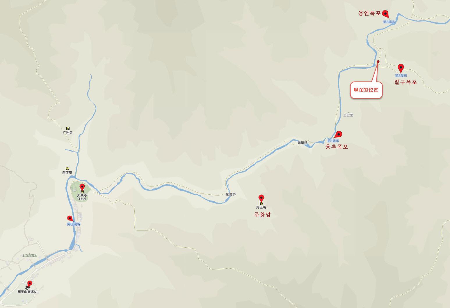 周王山健行步道地圖