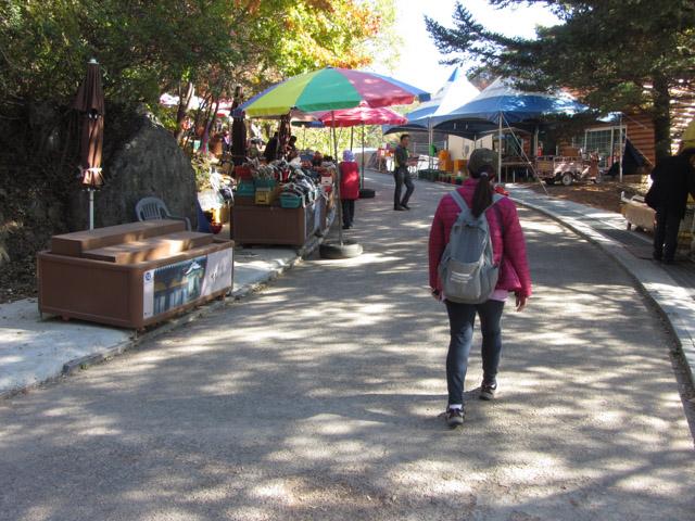 韓國榮州浮石寺登山口步道 攤販