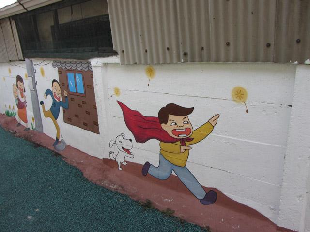 韓國忠清北道 堤川校洞民俗村 壁畫